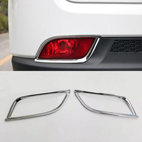 1 Pair Car Styling Rear Fog Light Cover For Jeep Compass 2017 2018 ABS Chrome Exterior Accessories High Quality