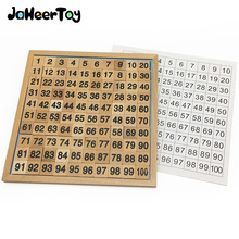 JaheerToy Montessori Teaching Aids 1-100 Digital Cognition Baby Wooden Toys Mathematics Teaching 6-7-8 Years Old for Kids цены