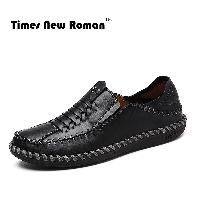 9f0e034b9e3 Times New Roman Brand Breathable Casual Genuine Leather Men Shoes Moccasins  Gommino Slip on sapato masculino-in Men s Casual Shoes from Shoes on ...