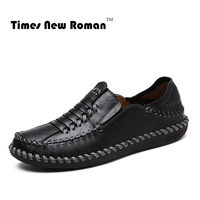 New 2017 Men Genuine Leather Flats Fashion Men Shoes Casual Boat Shoes Moccasins Loafers Quality