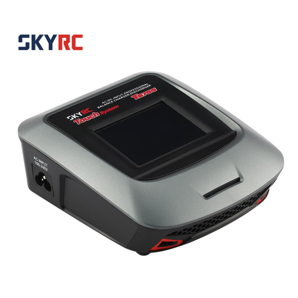 SKYRC T6755 7A 55W AC DC Lipo Nicd LiIon NiMH Battery Balance Charger Discharger with 3.2inch Touch LCD Screen for RC Model skyrc t6755 55w 7a screen ac dc battery balance charger discharger