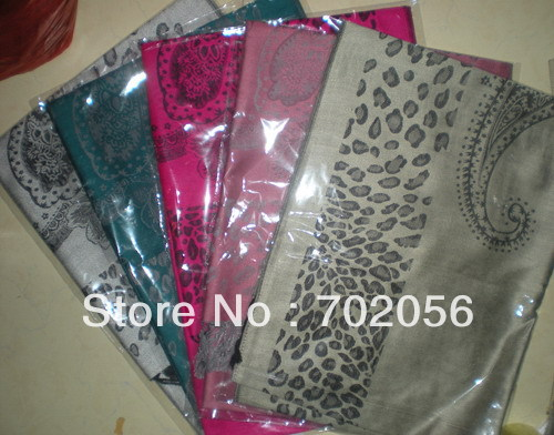 Womens Leopard flower   Scarf     wrap   shawl   Scarves   9PCS/LOT #2444