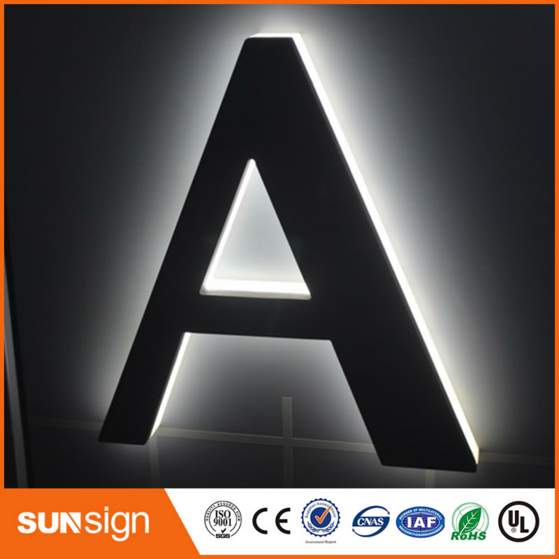 Led Backlit Logo Sign For Advertising New Style Import Acrylic Led Backlit Letter Sings
