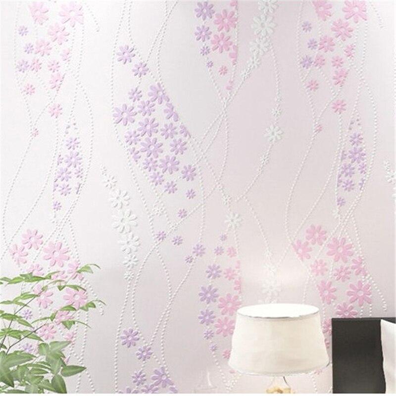 ФОТО beibehangpapel de parede Warm American - style garden flowers   3d non - woven bedroom living room sofa background wallpaper