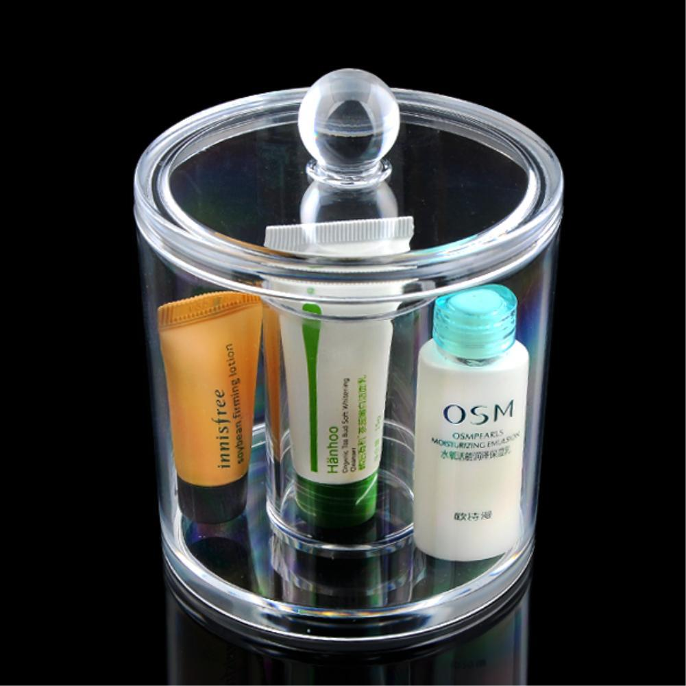 2 Grids Cotton Swabs Storage Holder Column Q tip Organizer Lipstick Case  Toothpick Holder Clear Acrylic Sundry Jar EQC377 POK-in Storage Boxes &  Bins from ...