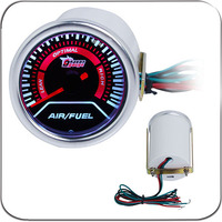 2 52MM Universal Air Fuel Ratio Car Gauge Meter Auto White LED
