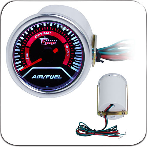 "2"" 52MM Universal Air Fuel Ratio Car Gauge Meter Auto White LED"