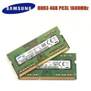 Image 2 - סמסונג 4G 1RX8 PC3L 12800S DDR3 1600 Mhz 4gb מחשב נייד זיכרון 4G pc3l 12800S 1600 MHZ מחברת מודול SODIMM רם ddr3 4gb