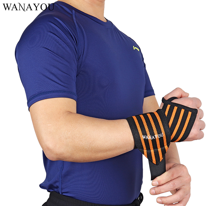 WANAYOU 1PCS Adjustable Wristband Elastic Wrist Wraps Bandages for Weightlifting Powerlifting Breathable Wrist Support 3 Colors ...
