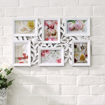 Wall Decoration Photo Frame 6 Picture  Frame Combination Wall Frame 6 Inch Child Personality Photo wall Birthday Wedding Gift