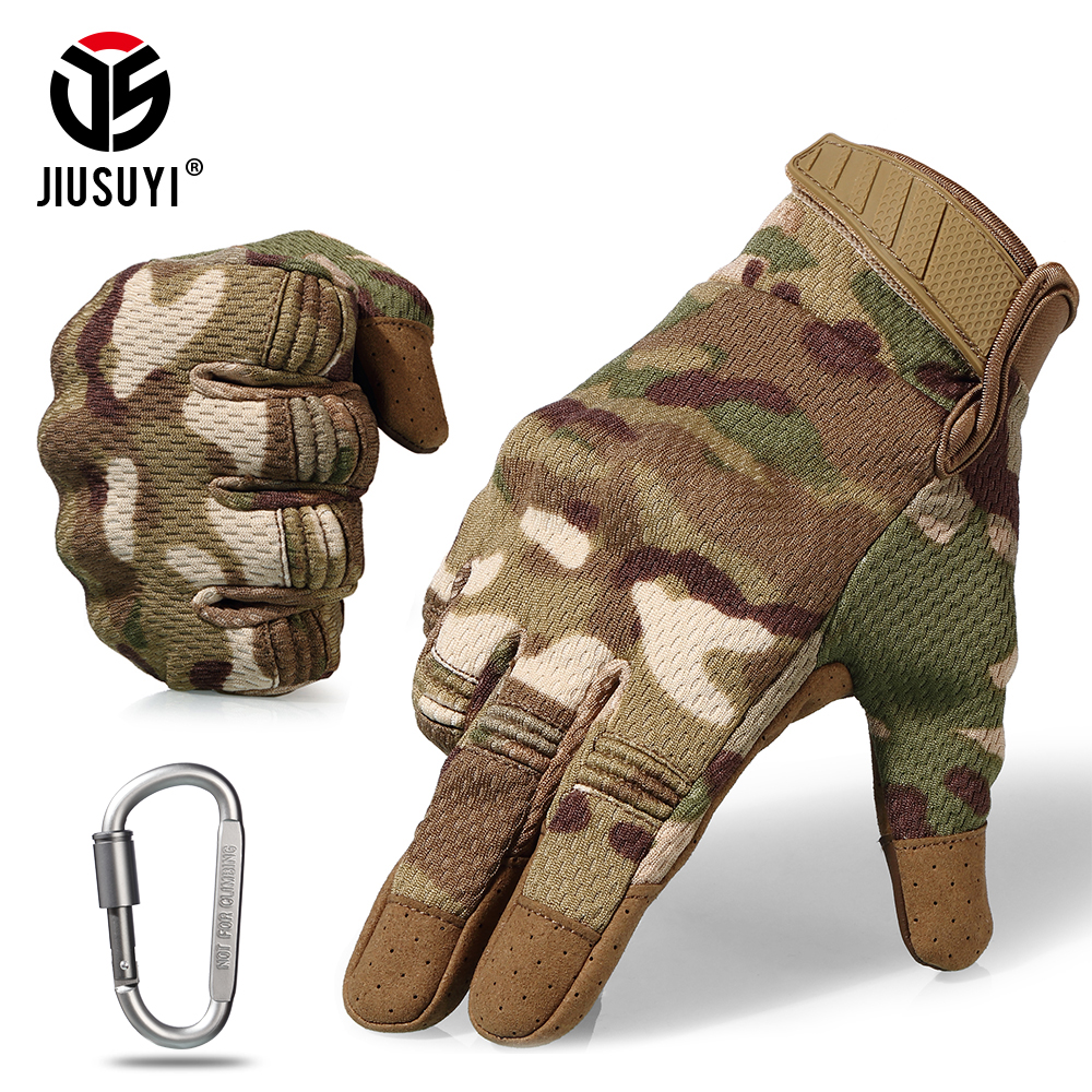 Camo Touch Screen Tactical Full Finger Gloves Army Military Paintball Shooting Airsoft Combat Protection Hard Knuckle Gear Men