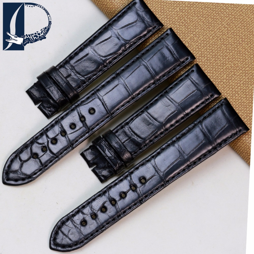 Pesno Suitable for CORUM Alligator Leather Bamboo Texture Watch Accessories Men Watch Strap Black 20mm Leather