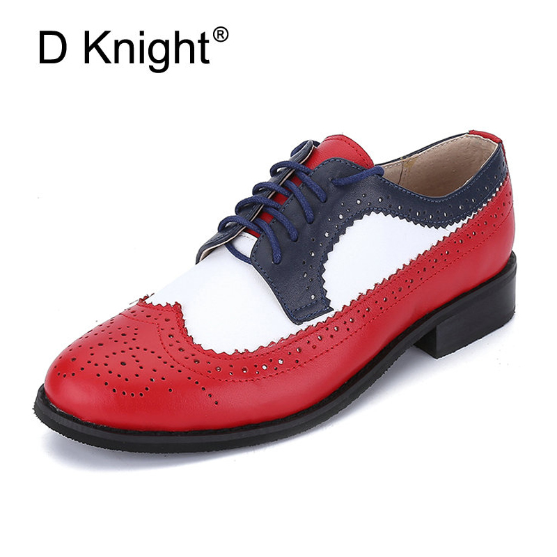 Genuine leather flat shoes women US size 14 handmade Color matching leather shoes vintage British style oxford shoes for women genuine cow leather women flats shoes handmade vintage british style oxford shoes for women shoes sandals 2018 spring big us 9