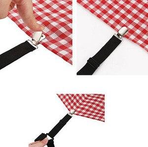 Image 3 - 4Pcs Elastische Laken Grijpers Clip Matrashoes Dekens Houder Fasteners Antislip Riem Clips Huishoudtextiel Gadgets