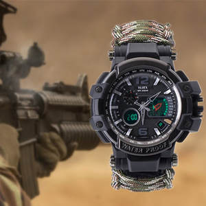 Bracelet Watch Tactical-Paracord Military Hiking Emergency-Gear Outdoor Waterproof Camping
