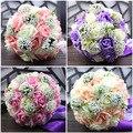 Новый 2017 Свадебный Букет Ручной Букет Невесты Розы Buque Де Noiva Рамос Де Novia Свадебные Букеты