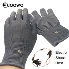 Newest Electrical Silver Fiber Gloves Flirting Sex Toys for Couples Body Massage Fetish Breast Penis Stimulator Adult Games