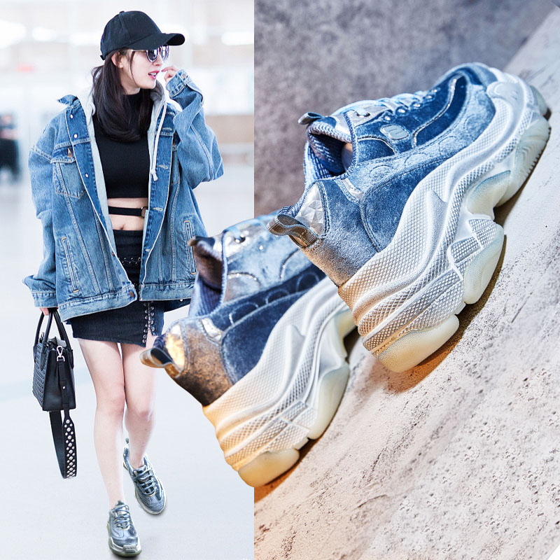 87719c74ed4 Terciopelo De Mujer Gamuza 2018 Grueso 1 Plus Marea 2 Fuego Retro Nueva  Super Zapatos Salvaje Invierno zqwIBqOd