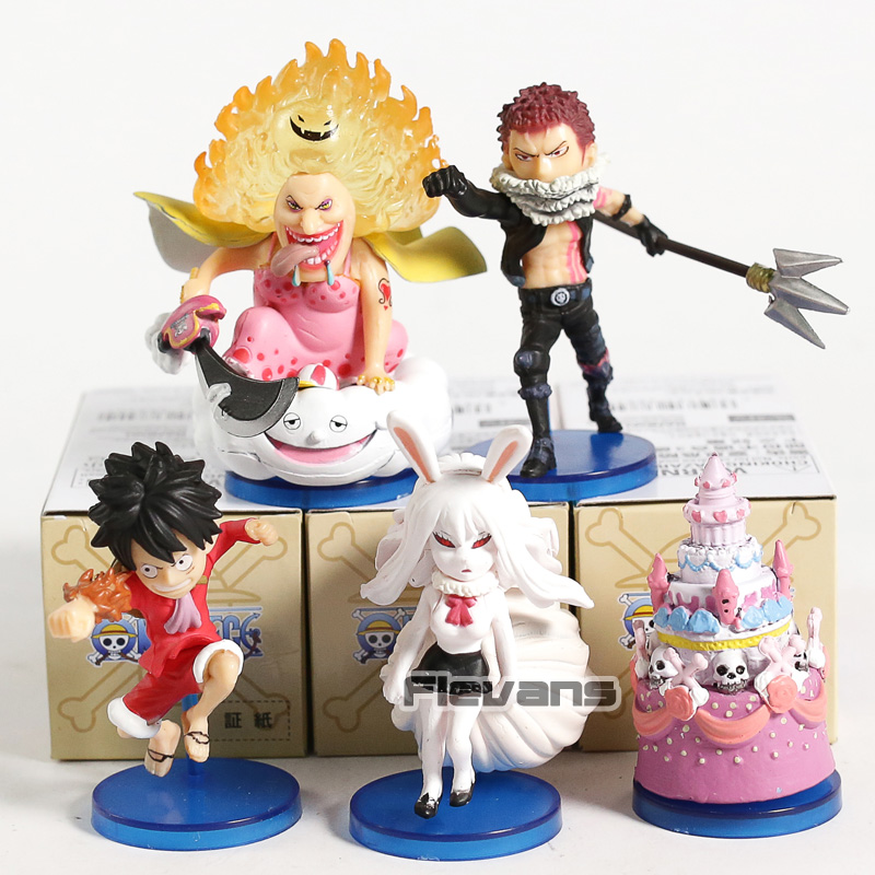 WCF <font><b>One</b></font> <font><b>Piece</b></font> Monkey D Luffy Charlotte <font><b>Katakuri</b></font> Big Mom Zeus Carrot Mini PVC Collectible <font><b>Figures</b></font> Model Toys 6pcs/set image