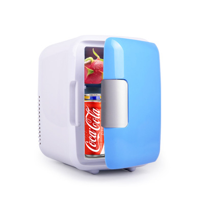 4L 220V/12V Eletric Car Home Refrigerator Fridge Car/Home Mini Dual-use Cool Warmer Dormitory Cans Beer Cooler image
