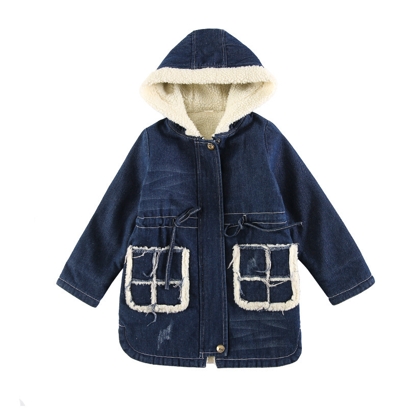 Travel snail 5-10Y wool coat for girls 2017winter New children clothing kids jackets abrigo lana nina manteau fille laine hooded nina stefanovich tale about littleworm book for kids