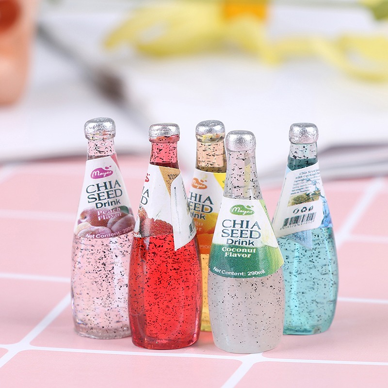 DIY Kitchen Room Food Drink Cup For Doll Miniature Dollhouse Mini Fruit Drink Model Mini World Dolls Accessories