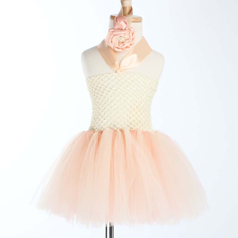 Toddler Girls Fancy Princess Tutu Dress Holiday Flower Double Layers Fluffy Baby Dress with Headband Photo Props TS044 19