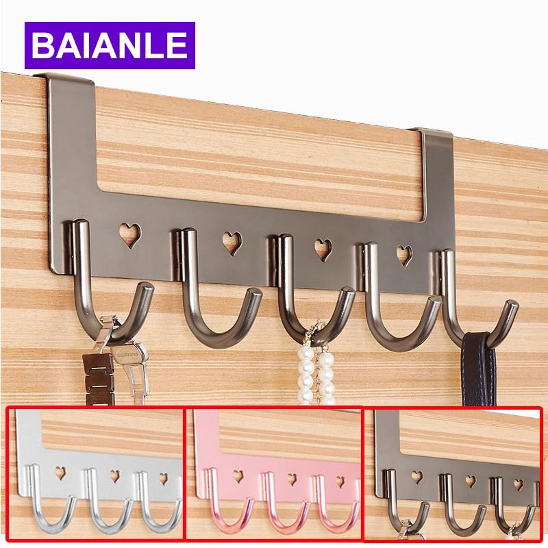 Bathroom Accessories Coat Clothes Hooks Modern Hooks Door For Aluminum Convenient Hooks For Clothes On The Door BAIANLE