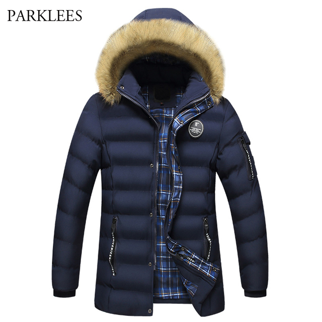 7d3db6109108 New Trand Big Fur Hooded Parka Men 2017 Casual Men s Winter Jacket Manteau  Homme Hiver Padded Cotton Thick Warm Jacket Coat Men