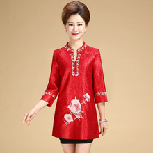 New fashion autumn cheongsam style Tang suit top Chinese traditional women clothing top vintage dress plus size qipao blouse все цены