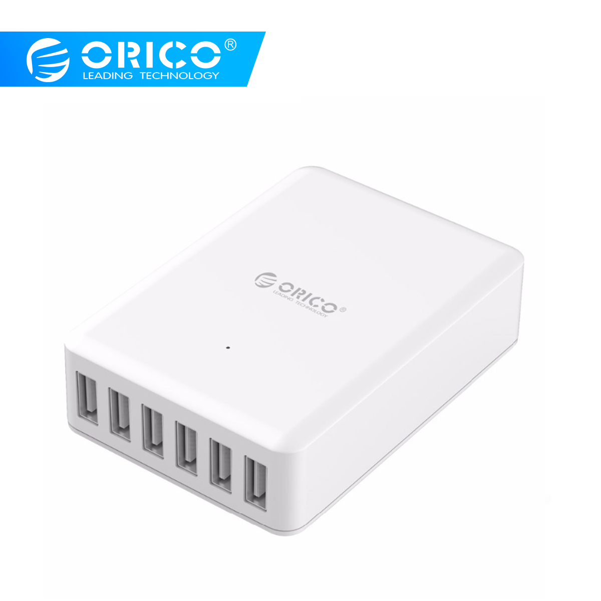 ORICO Universal USB Charger 6 Ports Smart Charger 5V2.4A Max Output 50W Mobile Phone Desktop Charger for iPhone Samsung Xiaomi-in Mobile Phone Chargers from Cellphones & Telecommunications