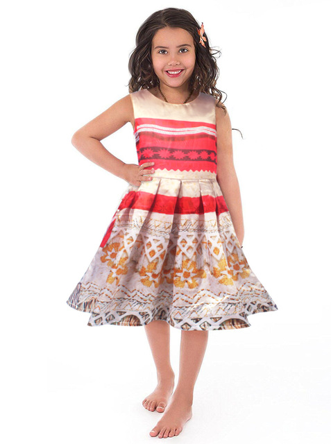 5d10313c73 girl dress moana vaiana kids adventure outfit polynesian princess beach  party cosplay costume fantasia brithday halloween