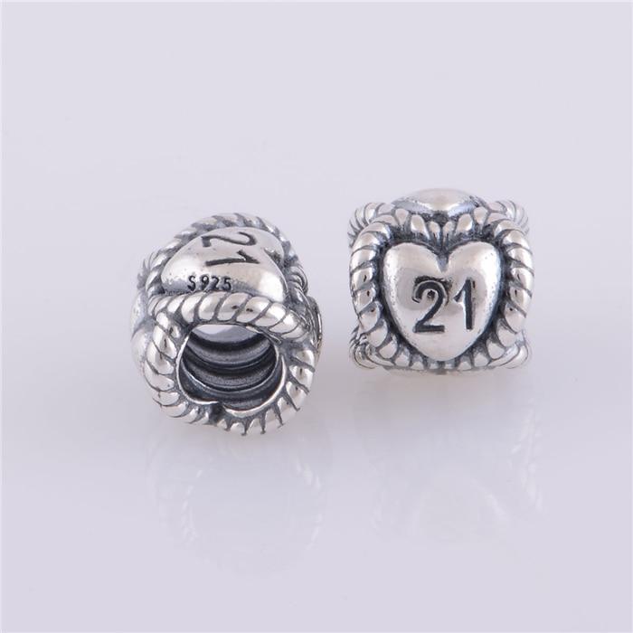 Lw312 Authentic 925 Sterling Silver Thread Love 21st Birthday Milestone Beads Fit Original Pandora Charms Bracelet Jewelry Charm Jewelry Charm Sterlingjewelry Charms Aliexpress