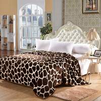 JaneYU Super Soft Flannel Blankets Thickened Double Sided Fir Velvet Golden Mink Coral Velvet Winter Flat Sheet