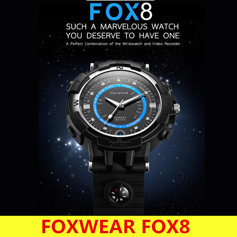Original Foxwear FOX8 Night Vision Built-in Compass Smartwatch Flashlight WiFi Video Wristwatch Compatible with Android IOS