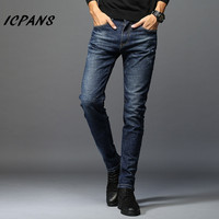 ICPANS 2018 New Men Skinny Jeans Stretch Fashion Classic Blue And Black Slim Brand Jeans Male
