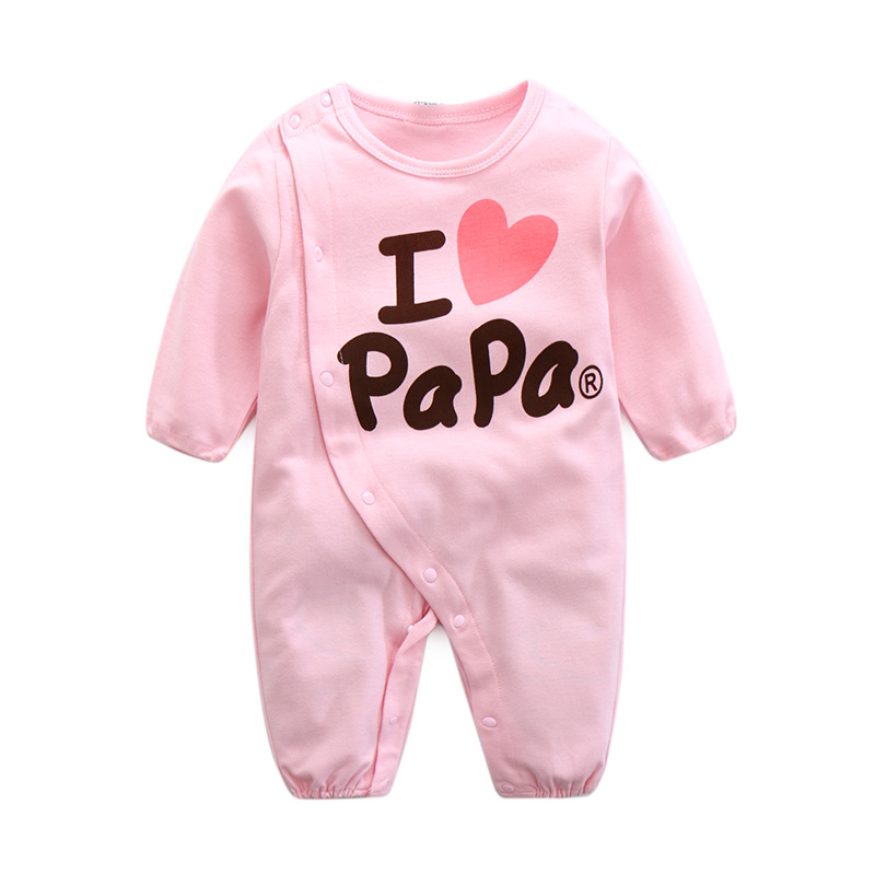 Baby Boy Clothes Newborn Baby Rompers Cotton Full Hearts Long Sleeve I Love Papa Mama Big Heart Printed Baby Jumpsuit Overalls newborn baby boys girls rompers infant short sleeve cotton jumpsuit clothing mama s boy printed summer clothes boy romper