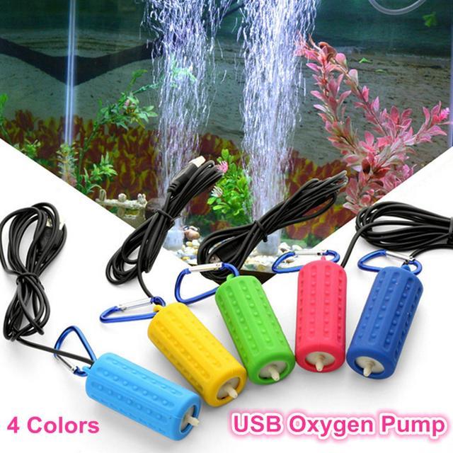 Portable Mini USB Aquarium Fish Tank Oxygen Air Pump Mute Energy Saving Supplies Aquatic Terrarium Fish Tank Accessories