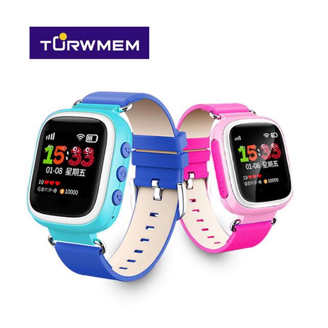 2016 colorido smart watch crianças 1.44 polegada de tela grande relógio sos localizador rastreador para o miúdo criança anti perdido monitor q80