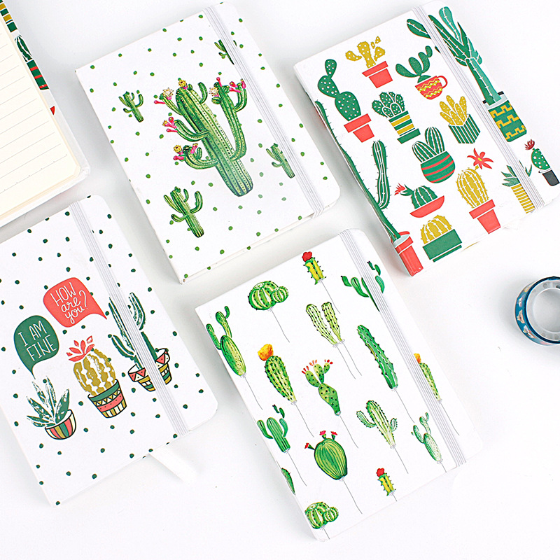 """""""cactus Ver.2"""" Beautiful Hard Cover Lined Study Diary Notebook Travel Journal Stationery Gift Strengthening Sinews And Bones"""