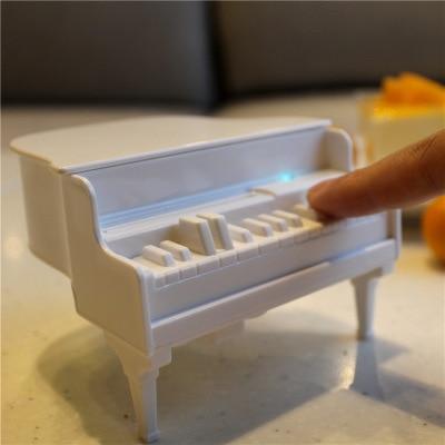 Novelty white piano automatic toothpicks dispenser uv disinfecting toothpick holder box table - Novelty toothpicks ...