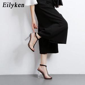 Image 5 - Eilyken 2020 New PVC Women Sandals Sexy Clear Transparent Ankle Strap High Heels Party Sandals Women Shoes Size 35 42