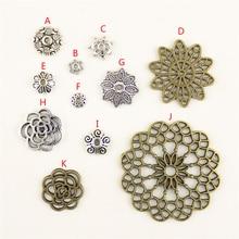 20Pcs Wholesale Bulk Accessories Parts Flower Mix Pendant Fashion Jewelry Making HK095