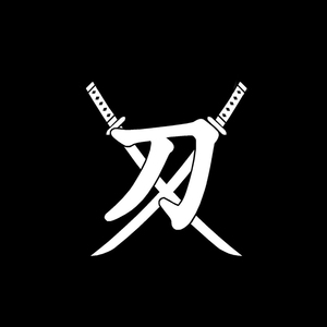 QYPF 14,7 см * 16 см китайский Kanji Катана креативный виниловый стикер на окна автомобиля и наклейка черный/серебристый C15-0230