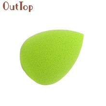 Tsw 1PC Green Water Droplets Soft Beauty Makeup Sponge Comestic Puff 170413B(China)