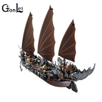 GonLeI 79008 Model 16018 806pcs Lord Of Rings Series Ghost Pirate Ship Set Building Blocks