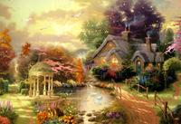 DIY Multi Size Landscape Diamond Painting Cross Stitch Pastoral Needlework Cross Stitch 5D For Home Decoration