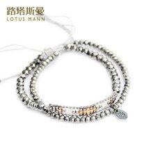 Lotus mann, Золотая осенняя серия, украшенная кристаллами, тканые два набора браслетов, осенние и зимние модели