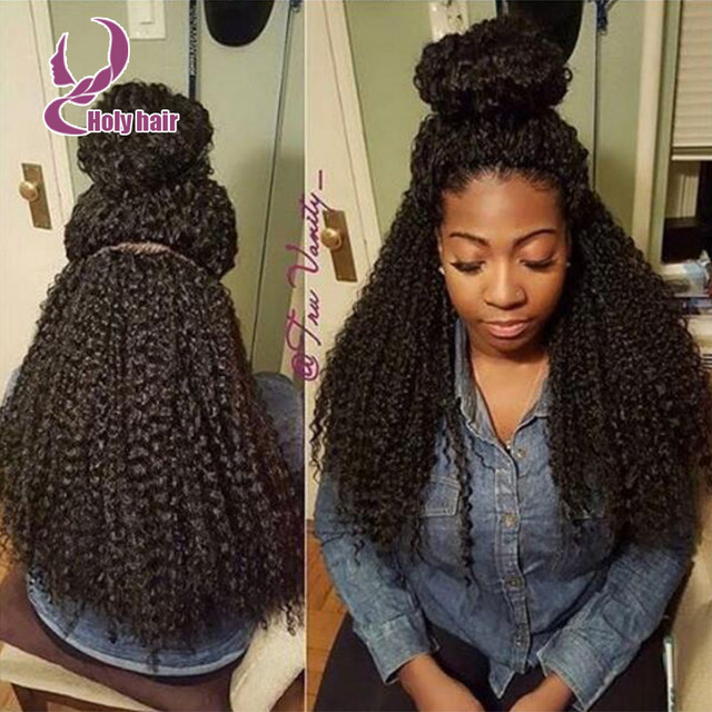 f78587e9d 180% density kinky curly wig human hair high ponytail front lace wig human  hair kinky curly afro high density full lace wig
