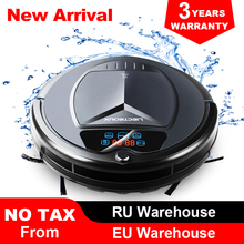 (Free shipping to all countries) 2019 Newest Wet and Dry Robot Vacuum Cleaner,with Water Tank,TouchScreen,Schedule,SelfCharge,